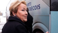 PQ Leader Pauline Marois in Becancour, Quebec