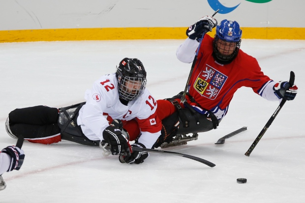 Greg Westlake in Sochi sledge hockey