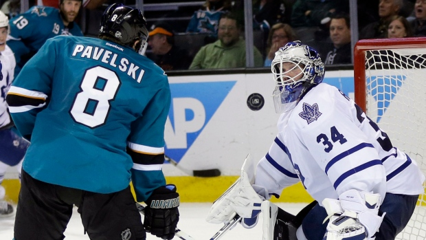 Sharks beat Leafs 6-2