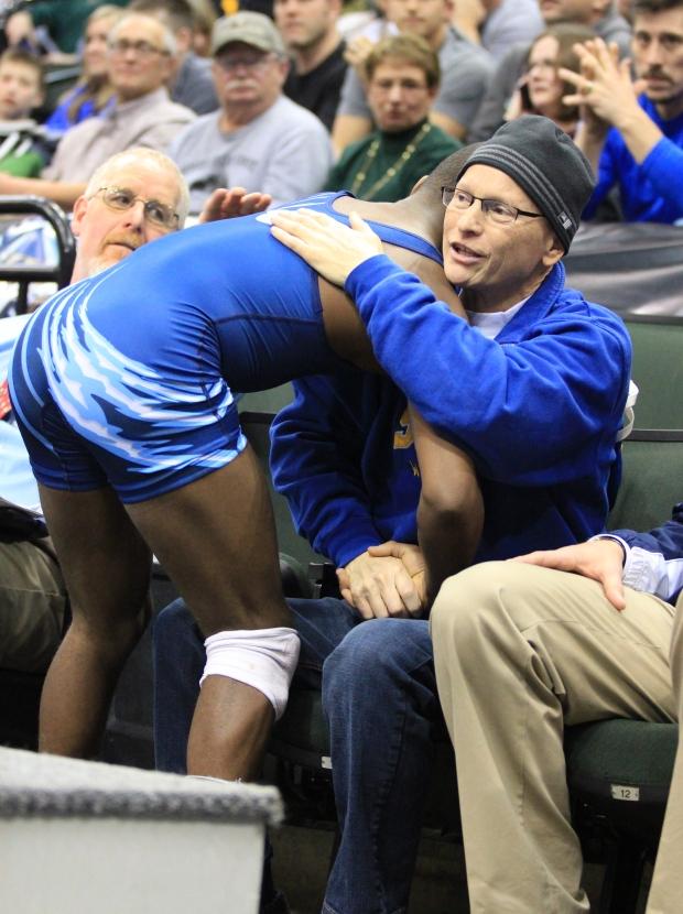 Wrestler hug