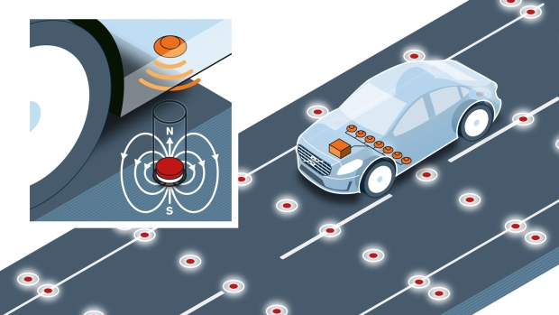 Volvo looks at road magnet use in cars