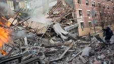 Building collapse NYC photos details live