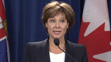 B.C. Premier Christy Clark says that a provincial police force could be cheaper than the RCMP. Sept. 30, 2011. (CTV)