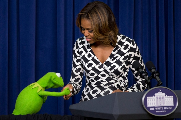 Michelle Obama attends Muppets screening