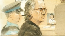 Giovanni Palumbo appears in a Toronto courtroom in this court sketch image, Friday, Sept. 30, 2011.