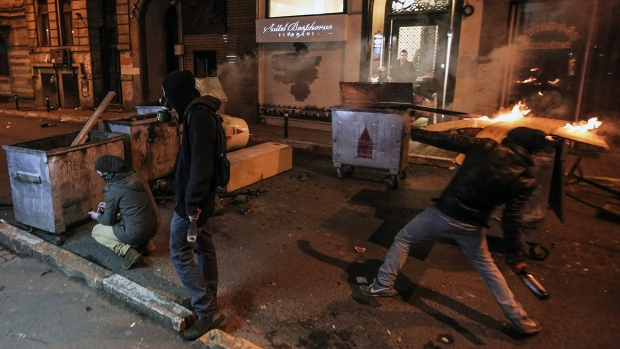 Demonstrators clash with police in Turkey
