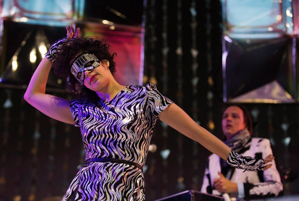 Regine Chassagne performs with her band Arcade Fire at the Air Canada Centre in Toronto on Thursday, March 13, 2014. (THE CANADIAN PRESS/Michelle Siu)