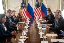 John Kerry meets Sergey Lavrov
