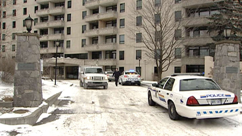 Police are investigating a reported stabbing at an apartment building near the Russian embassy, Friday, March 14, 2014.