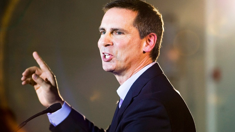 Premier Dalton McGuinty speaks at a campaign rally in Brampton on Sunday, Oct. 2, 2011. (Aaron Vincent Elkaim / THE CANADIAN PRESS)