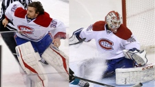 Either Peter Budaj (left) or Dustin Tokarski will
