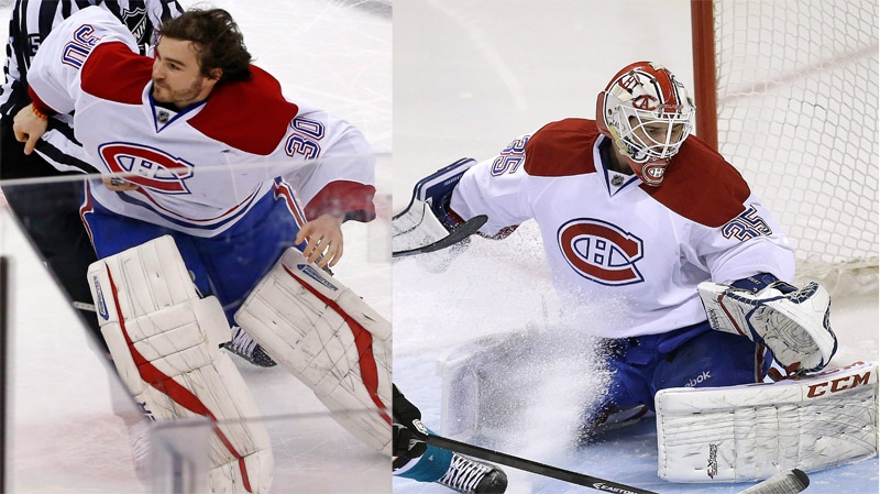 Peter Budaj (left) and Dustin Tokarski will be taking over the goaltending duties for the rest of the Rangers' series. (CP file photo)
