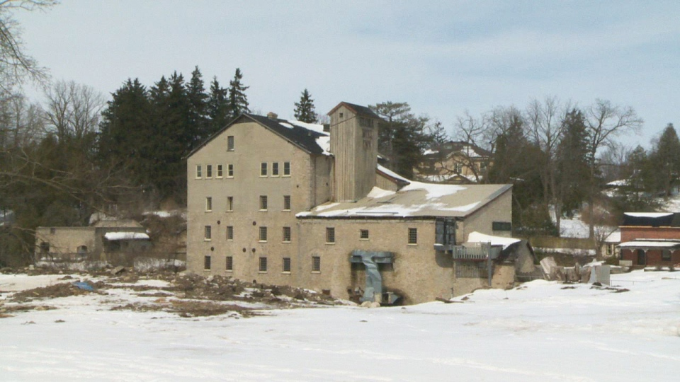 The Elora Mill property is seen on Friday, March 14, 2014.