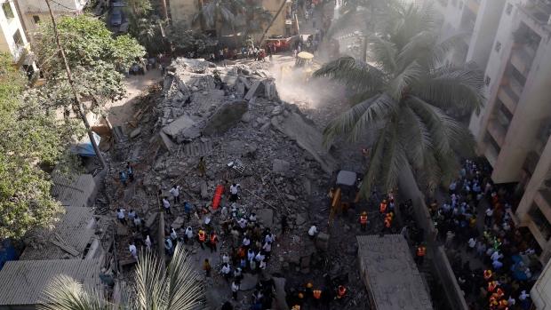 7-storey Mumbai building collapses
