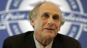 Dr. Ralph Steinman is seen speaking at a news conference in Albany, N.Y., on April 24, 2009