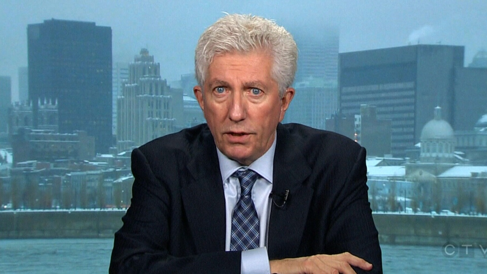 Former Bloc Quebecois leader Gilles Duceppe speaks in an interview that aired on CTV's Question Period, Sunday, March 16, 2014.