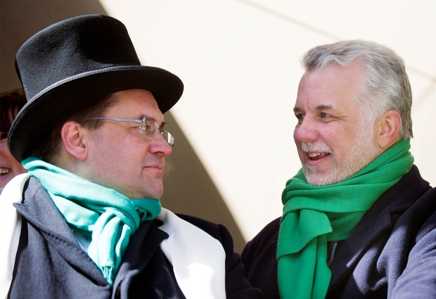 Denis Coderre and Philippe Couillard