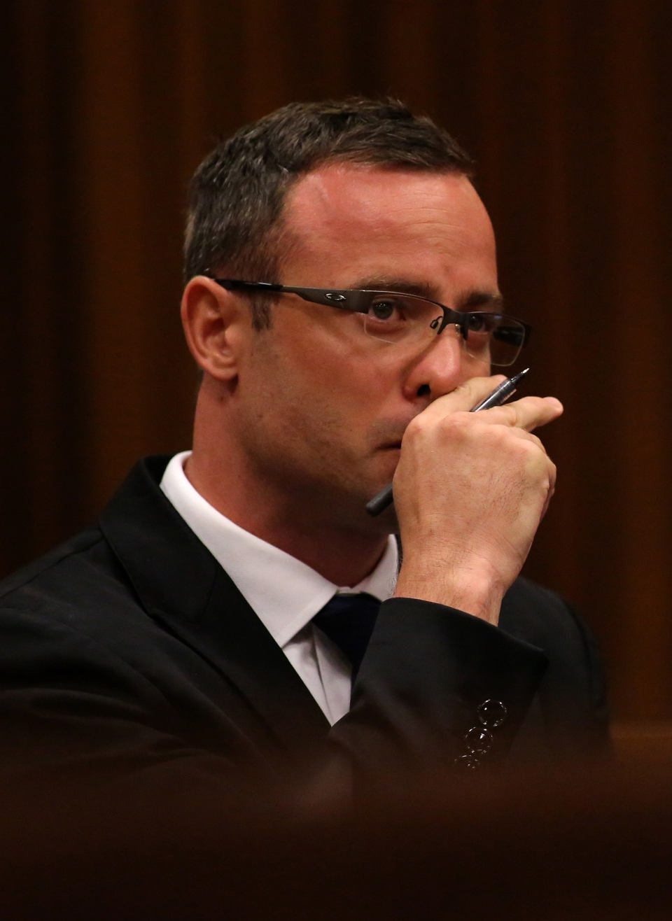 Oscar Pistorius listens to cross questioning in court in Pretoria, South Africa, Monday, March 17, 2014. (AP / Siphiwe Sibeko)