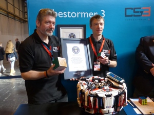Cubestormer 3 sets new Guinness World Record (Photo courtesy of ARM)