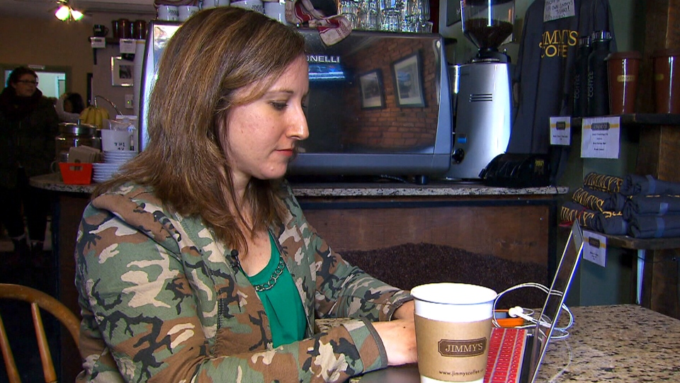 A growing trend sees many people bringing their workplaces to a coffee shop.