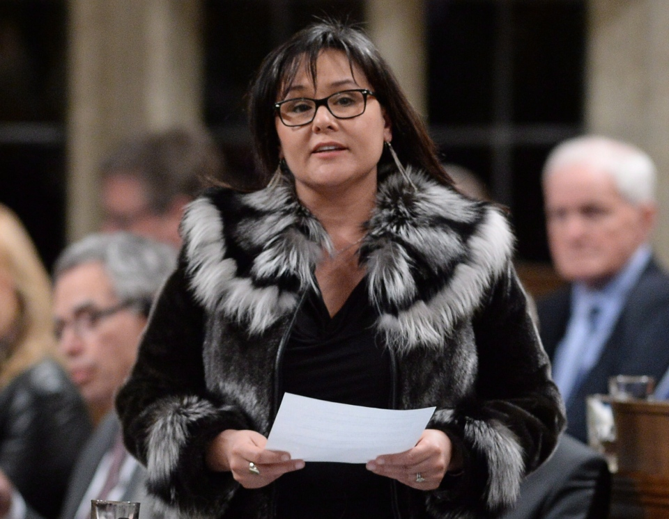 Environment Minister Leona Aglukkaq answers a question during question period in the House of Commons in Ottawa, Thursday, Jan. 30, 2014. (Sean Kilpatrick / THE CANADIAN PRESS)