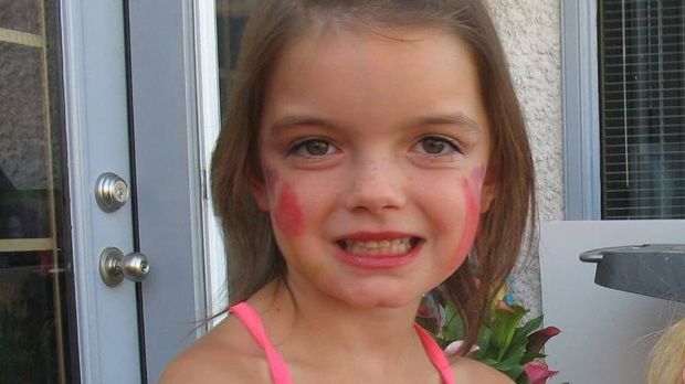 Seven-year-old Gracie Hernetier-Clark is shown in this undated Facebook photo. She was the victim of a fatal dog attack near Oakbank, Man. on March 16, 2014.