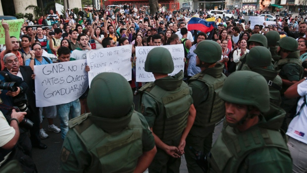 Venezuela takes control of protest site