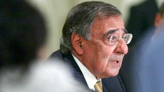 Defense Secretary Leon Panetta answers questions during a news conference in Cairo, Egypt, Tuesday, Oct. 4, 2011. (AP / Win McNamee - Pool)