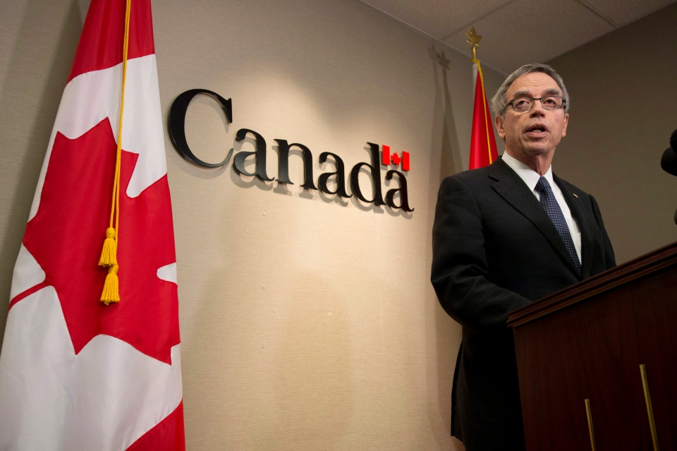 Natural Resources Minister Joe Oliver says the government is encouraged by the outcome of the U.S. State Department's final environmental impact study on the Keystone X-L pipeline. (Frank Gunn / THE CANADIAN PRESS)