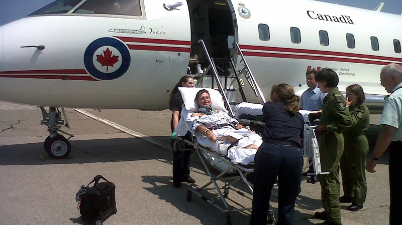 Capt. Terry Hunter spent 10 days in a U.S. hospital before a Challenger jet was sent to medevac him back to Ottawa at a cost of about $24,000.