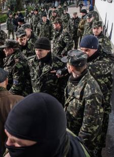 Ukrainian navy headquarters in Crimea seized