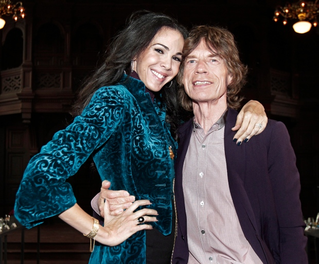 L'Wren Scott and Mike Jagger