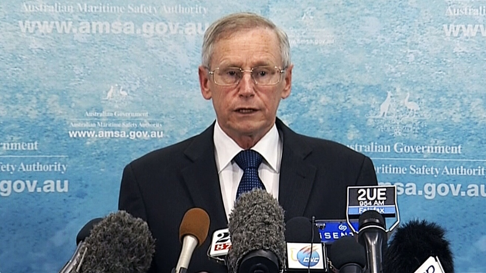 John Young, Australian Maritime safety authority general manager, speaks about objects that may be related to Flight 370, in Canberra, Australia, March 20, 2014.