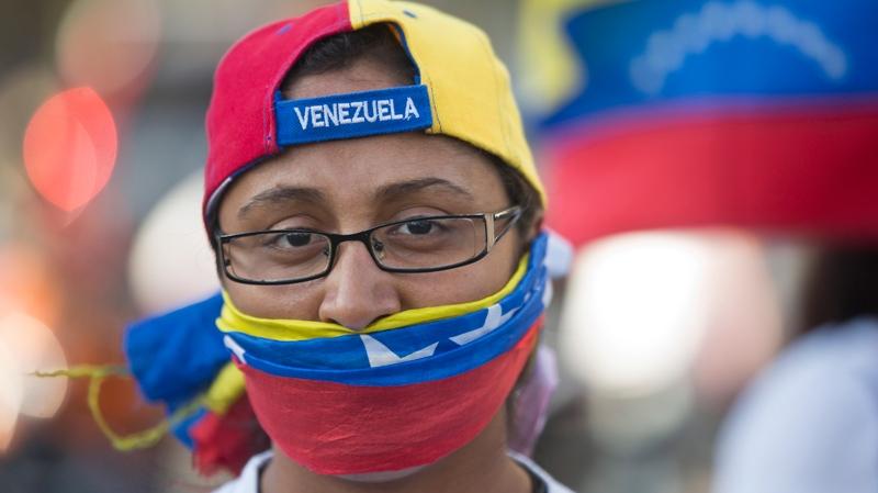 Protest in Plaza Altamira, Caracas, Venezuela