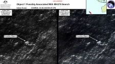 Satellite image of MH370 debris