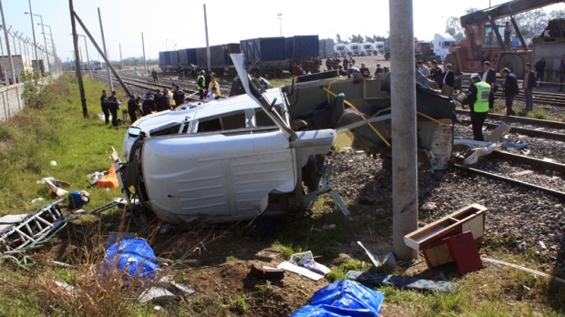 Minibus, train crash near Mersin, Turkey