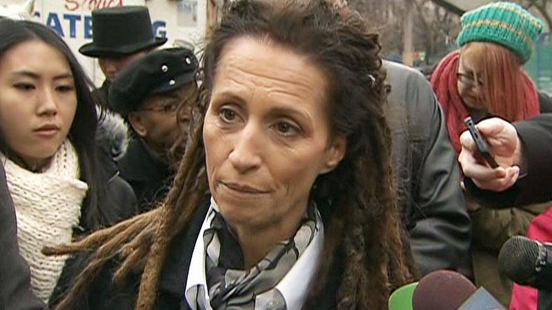 Mayoral candidate Sarah Thomson speaks outside city hall in Toronto on Thursday, March 20, 2014.