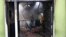 Suicide attack on Afghan police station