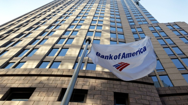 A flag flies in front of Bank of America's corporate headquarters in Charlotte, N.C., Wednesday, Oct. 5, 2011. (AP / Chuck Burton)
