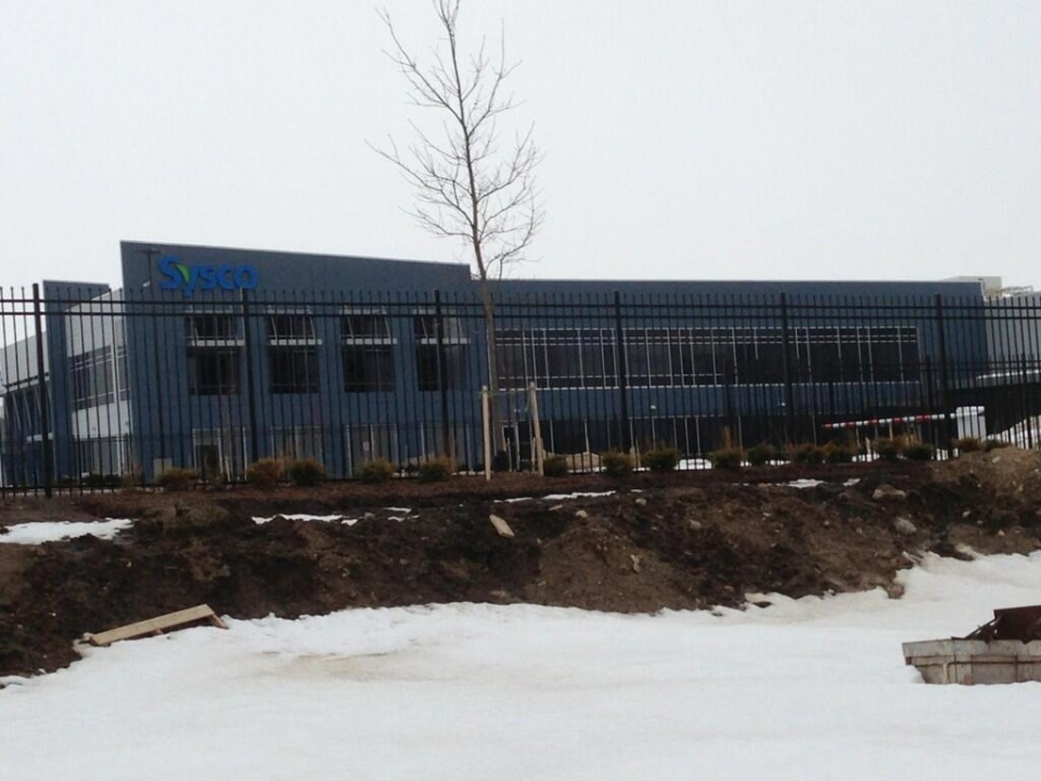 The new Sysco distribution centre is seen in Woodstock, Ont. on Thursday, March 20, 2014. (Bryan Bicknell / CTV London)