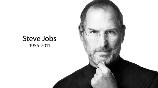 Apple posted this black and white image of Steve Jobs on Wednesday, Oct. 5, 2011.