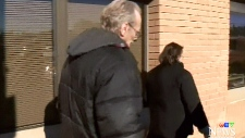 Eugene Krawchuk outside of Saskatoon courthouse