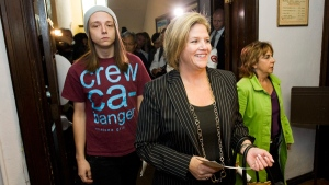 Horwath Son Wears Misogynistic Shirt to Vote with Mom