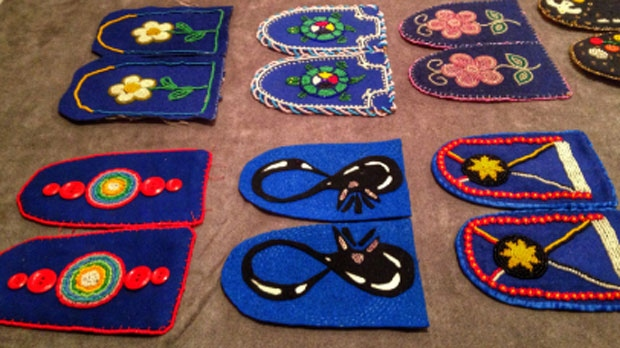 Each pair of unfinished moccasins represents an unfinished life. Walking With Our Sisters seeks to honour to the lives of missing or murdered indigenous women and girls.