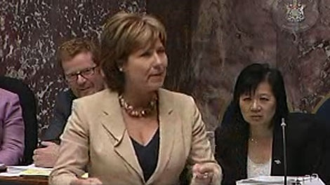 Former NDP MLA David Schreck has questioned whether Liberal Premier Christy Clark dressed appropriately Wednesday in the legislature. Oct. 5, 2011. (Handout)