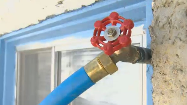 Concerns over temporary water hoses freezing
