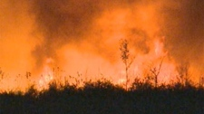 Crews are battling wildfires in southeastern and western Manitoba.