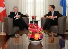 Harper in The Hague