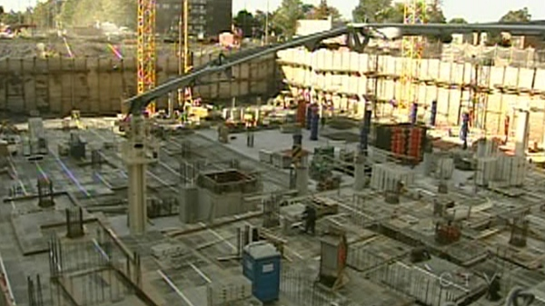 The foundation for the K pavilion at the Jewish General Hospital is already built (Oct. 7, 2011)