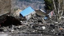 Washington state mudslide damage